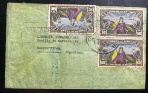 1938 Guayaquil Ecuador Airmail Cover To Buenos Aires Argentina
