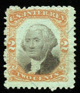 B438 U.S. Revenue Scott R151 3rd Issue 2c on green paper, uncancelled