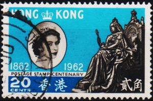 Hong Kong. 1962 20c S.G.194 Fine Used