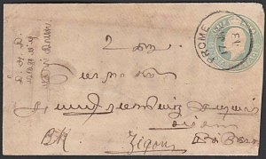 INDIA USED IN BURMA 1913 EVII ½a envelope used PROME TO ZIGON.......... ....B138
