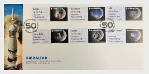 2019 GIBRALTAR - MOON LANDING 50TH ANNIVERSARY - POST & GO SET - FIRST DAY COVER