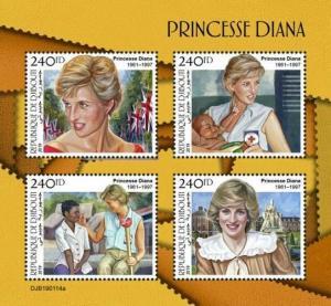 Z08 DJB190114a DJIBOUTI 2019 Princess Diana MNH ** Postfrisch