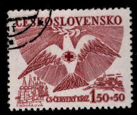 Czechoslovakia Scott B168 Used semi-postal stamp