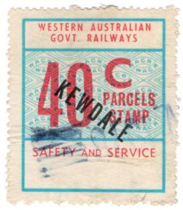 (I.B) Australia - Western Australia Railways : Parcels 40c (Kewdale)