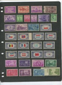 STAMP STATION PERTH USA Early Selection of 34 Stamps Unchecked Mint -Lot 9