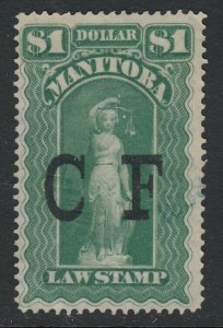 Canada, Manitoba (Revenue) van Dam ML11, Mint (Disturbed OG)