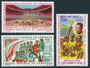 Cameroun C150-C152,MNH.Michel 622-624. World Soccer Cup Mexico-1970.Pele.