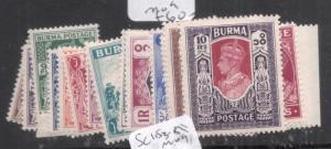 Burma SG 51-63 MOG (2dkt)