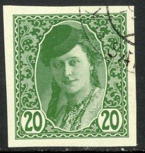 BOSNIA AND HERZEGOVINA 1913 20h BOSNIAN GIRL Newspaper Stamp Sc P4 CTO Used