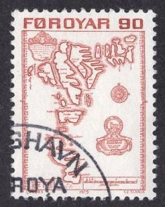 Faroe Islands  #13  1975 used  90 ore