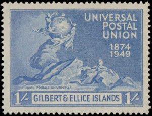 1949 Gilbert & Ellice Islands #56-59, Complete Set(4), Never Hinged