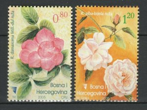 Bosnia and Herzegovina 2005 Flowers 2 MNH stamps