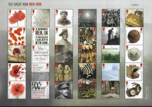 GB 2018 The Great War composite sheet UNMOUNTED MINT/MNH