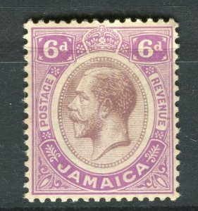 JAMAICA; 1912 early GV issue fine Mint hinged 6d. value