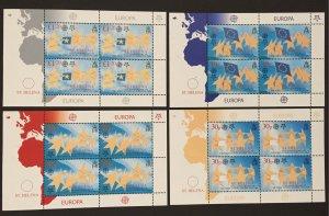 St. Helena 2006 #894-7 Sheetlets, Europa 50th Anniversary, MNH.