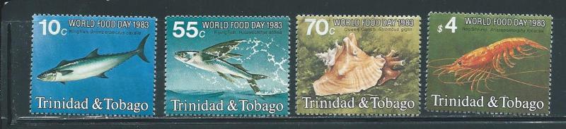 Trinidad & Tobago 388-91 Fish set MNH