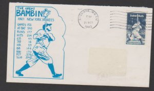 USA FDC STAMPS #2046 BABE RUTH , LOT#US702