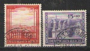 Germany - Third Reich 1941 Sc# B198-B199 Used  VG - 1941 Vienna Fair