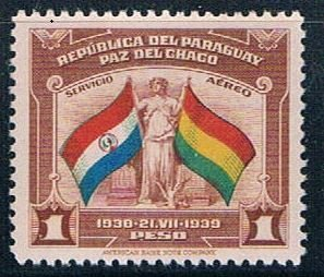 Paraguay Flags 1 - pickastamp (PP8R604)