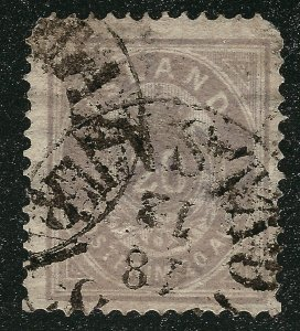 Iceland Rare #13 Facit#14a Pale Violet Used F-VF Facit $675...Scare variety!!