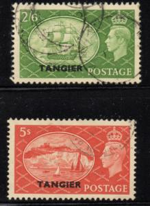 Great Britain Tangier Sc 556-7 1951 G VI Hi Value stamp used