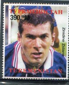 Turkmenistan 1998 FIFA FOOTBALL WORLD CUP Zidane set Perforated Mint (NH)