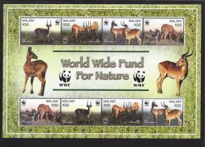 Malawi, 714, Animals - WWF S/S (8),MNH