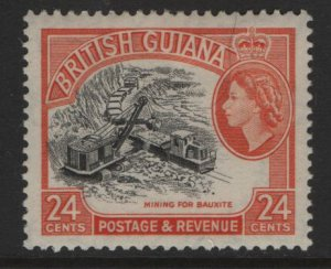 BRITISH GUIANA 261  MINT HINGED REMNANTS QE2  MINING ISSUE