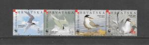 BIRDS - CROATIA #621 WWF MNH  MNH