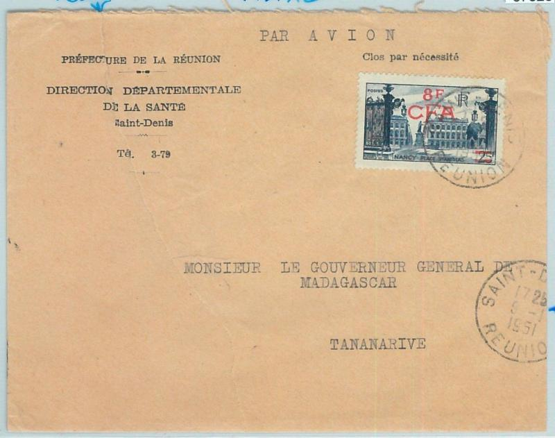 67323 -  FRENCH COLONIES: REUNION - Postal History - COVER to MADAGASCAR! 1951