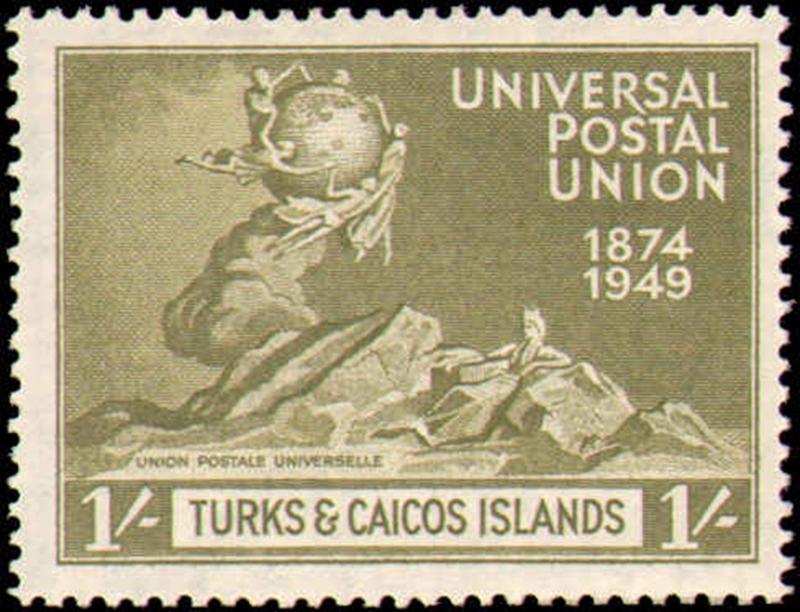 TURKS & CAICOS ISLANDS #101-104  MINT HINGED COMPLETE SET ( 4 )