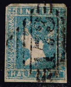 INDIA STAMP 1854 Queen Victoria, 1819-1901 1/2 ANNA USED STAMP