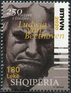 Albania 2020. Ludwig van Beethoven (1770-1827) (MNH OG) Stamp