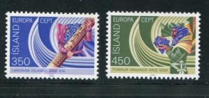 Iceland #554-5 MNH Europa - Make Me An Offer