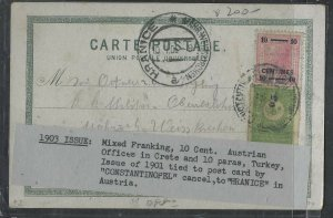 TURKEY COVER (PP0605B)  AUSTRIA OFFICES IN CRETE 10C+TURKEY MIX FRANK ON PPC TO