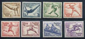 Germany 1936 Sc B82-9 Mi 609-6 MNH Olympic Games. CV 140.00 Euro.