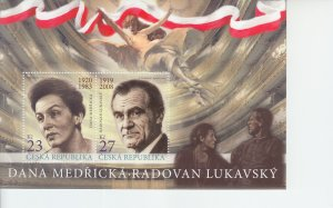 2019 Czech Republic Actors & Actresses SS (Scott NA) MNH