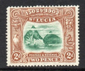 St Lucia 1902 EDVII 2d Discovery by Columbus SG 63 mint