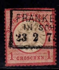 Germany Scott 17 used 1872  Large shield blunt perfs at top