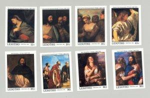 Lesotho #685-692 Titian Art Christmas 8v Imperf Proofs