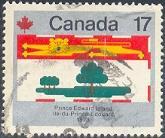 Provincial Flag of Prince Edward Island, Canada SC#827 Used