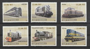 Mozambique MNH 3186-41 Locomotives 2009