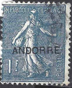 Andorra French 1931 SC 16 Used SCV$ 45.00