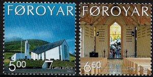 Faroe Is #424-5 MNH Set - Gota Church