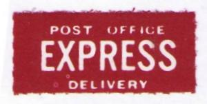 UNITED STATES OLD POST OFFICE EXPRESS DELIVERY LABEL (AM139