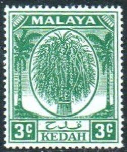 Kedah 1950 3c green MH