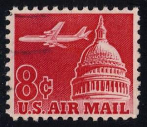 US #C64 Jet Airliner over Capitol; used (0.25)