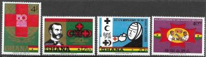 Ghana 50th Anniversary League of Red Cross Soc's set of 1970, Scott 378-381 MNH