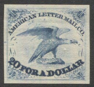 USA, Scott 5L1 MNG American Letter Mail Blue Reprint, 20 for a Dollar