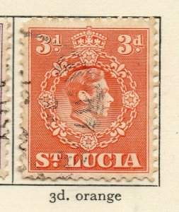 St Lucia 1938-48 GVI Early Issue Fine Used 3d. NW-154977
